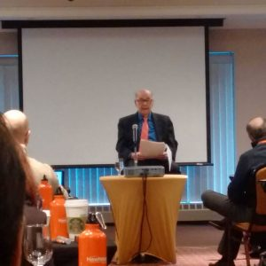 Harold Burson presents to the 20th Anniversary Reunion of the Master of Science in Comms Mgt from the Newhouse School at Syracuse University.
